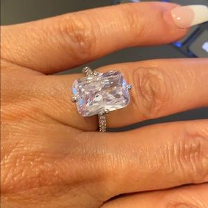 New 6ct Emerald cut CZ Engagement Ring size 6